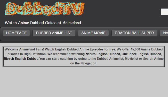 animeland tv watch dubbed anime