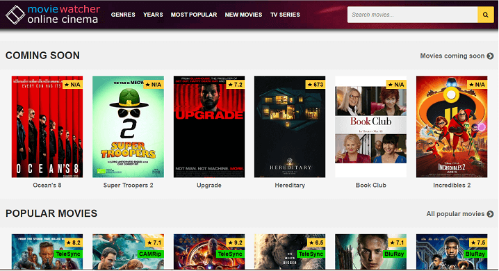 movie watcher sites like solarmovie