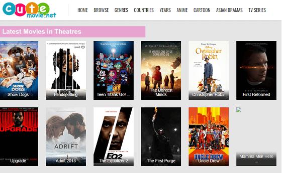 cutemovie in top movie sites