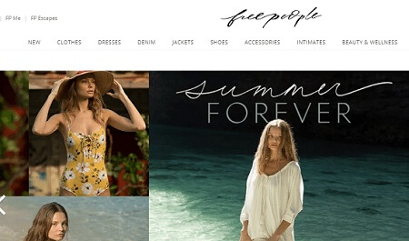 freepeople in stores like nasty gal