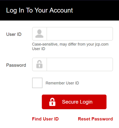 jcpenny credit card login