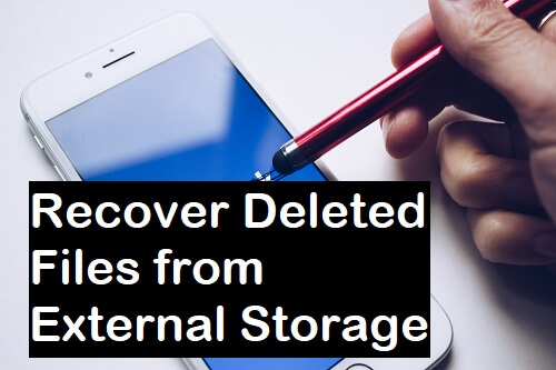Recover Deleted Files from External Storage