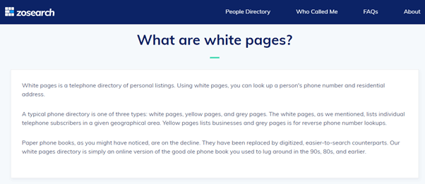 zosearch-whitepages