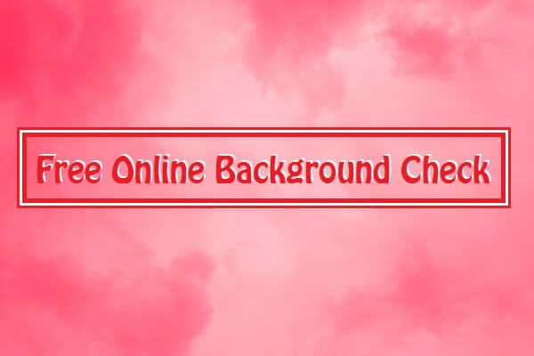 Online Background Check
